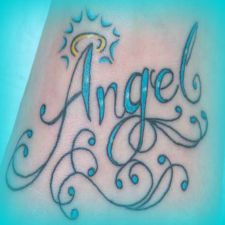 Angel Name Tattoo