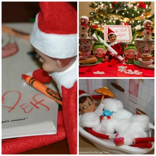 elf on the shelf collage #2