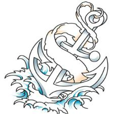 Tattoo Idea: Anchor hitting the Waves
