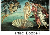 Aphrodite painting by classical artist Botticelli