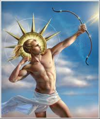 Greek God Apollo symbol of light