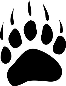 Bear paws tattoo design