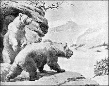 Bears at Cave tattoo idea