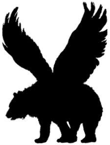 Bear tattoo idea with wings