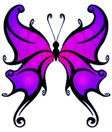 butterfly fantasy tattoo idea