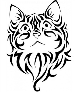 Cartoon Egyptian Cats Tattoo Designs