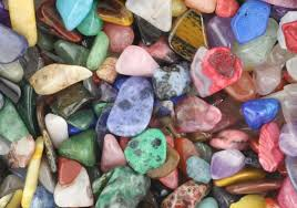 varied gemstones and crystals