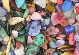 varied gemstones and crystals