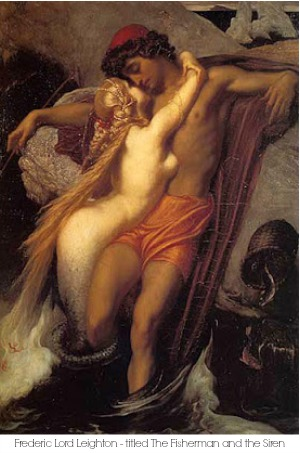 mermaid; Frederic Lord Leighton