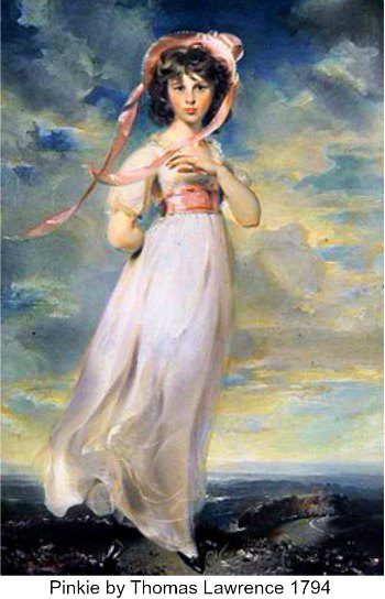Pinkie Painting by Thomas Lawrence 1794