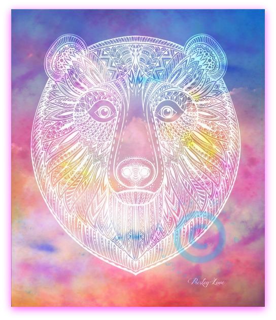 Bear Totem Animal Watercolor Art Print - by Presley Love