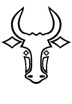 bull tattoo idea linework