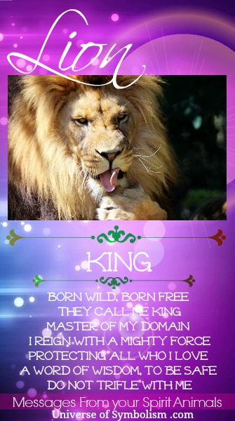 Lion Spirit Animal Symbolism & Meanings, Lion is a symbol of courage, royalty, loyalty and wealth