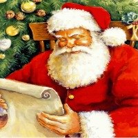 Santa, symbol of Christmas